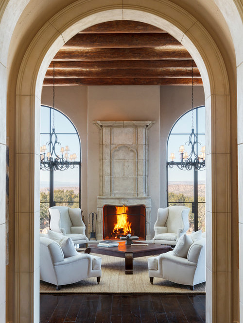 Large arched window home design ideas pictures remodel and decor - Expansive large glass windows living room pros cons ...