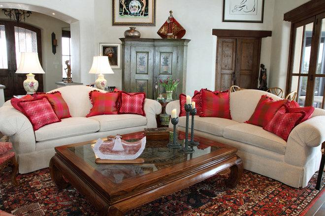 Mediterranean Living Room by Tewes Design