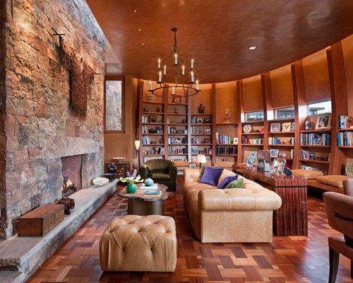 Southwestern Family Room Design Ideas Remodels Photos Houzz