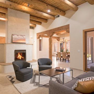 Santa Fe Transitional Pueblo by Borrego Custom Homes