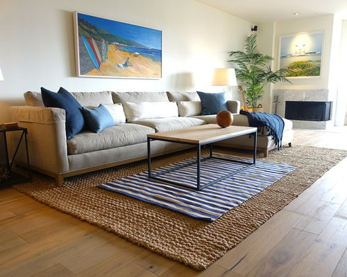 Budget living room design ideas renovations photos with for Beach themed living room on a budget