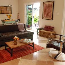 Contemporary Living Room by Lynn Deegan Design