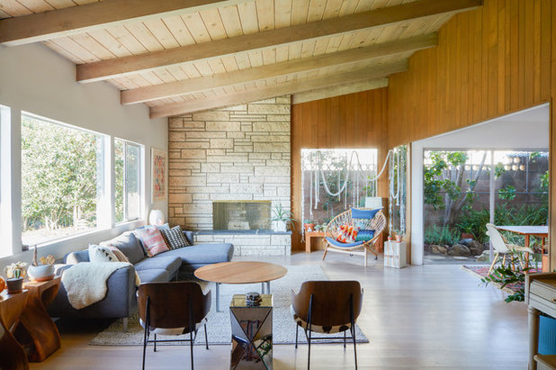 Midcentury living room by madeline tolle