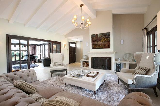 Mediterranean Living Room by Curve Interior Design Ltd