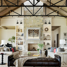 Transitional Living Room by Jennifer Robin Interiors