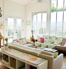 eclectic living room by Going Home To Roost