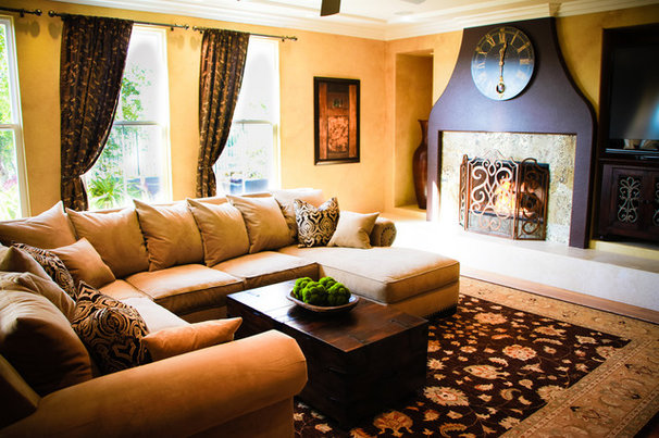 Mediterranean Living Room by Interior Designs San Diego