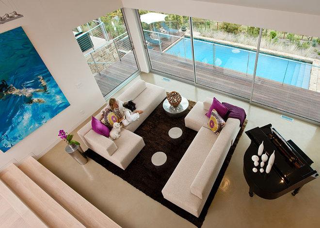 Contemporary Living Room by Lori Smyth Design