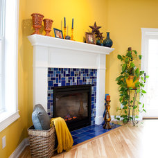 Eclectic Living Room by Mercury Mosaics and Tile