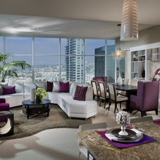 contemporary living room by Ami Samuel Interiors