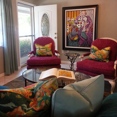 Eclectic Living Room by Lisa Gilmore Design