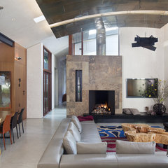 modern living room by WA design