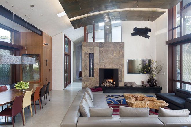 Contemporary Living Room by WA design