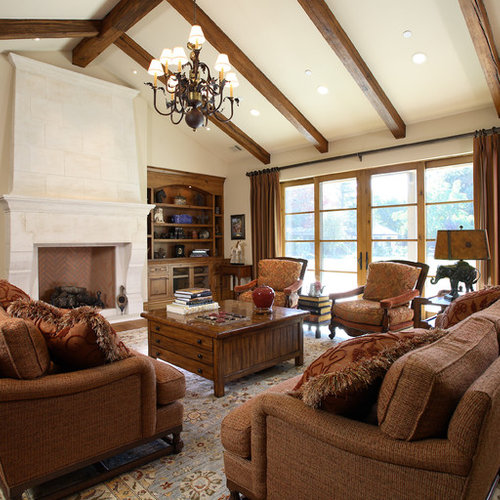 Built ins vaulted ceiling houzz for Decorating ideas for high ledges