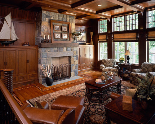 Example Of A Mid Sized Classic Formal Enclosed Living Room Design In Boston  With Brown Part 66