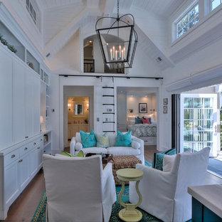 Living room - beach style living room idea in San Francisco