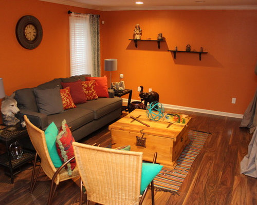 Southwestern Living Room Design Ideas, Remodels & Photos with ...