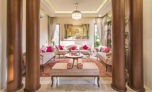 Indian Family Room by VB Design Studio