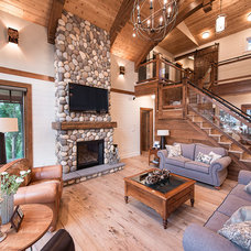Rustic Living Room by Northern Sky Developments