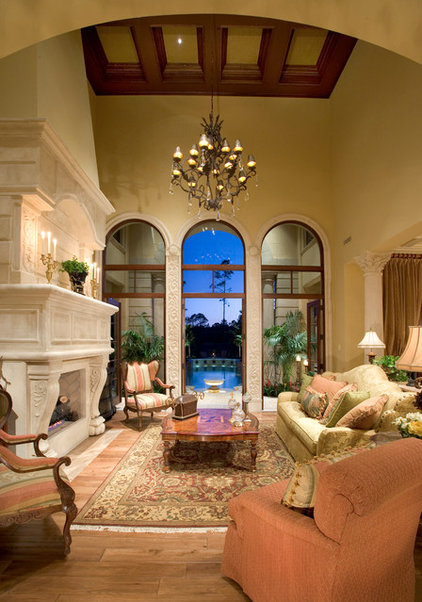 Mediterranean Living Room by Sater Design Collection, Inc.