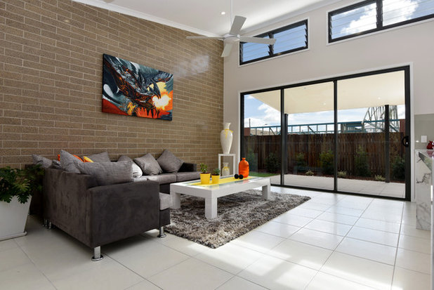 Contemporary Living Room by Geoff Gibson Homes