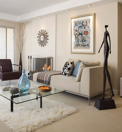 Contemporary Living Room by Cathleen Gouveia Design