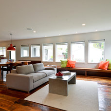 Contemporary Living Room by REFINED LLC