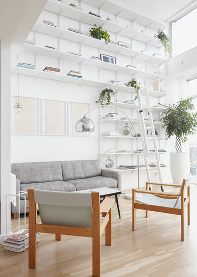 Scandinavian Living Room by Kristy Noble Photography