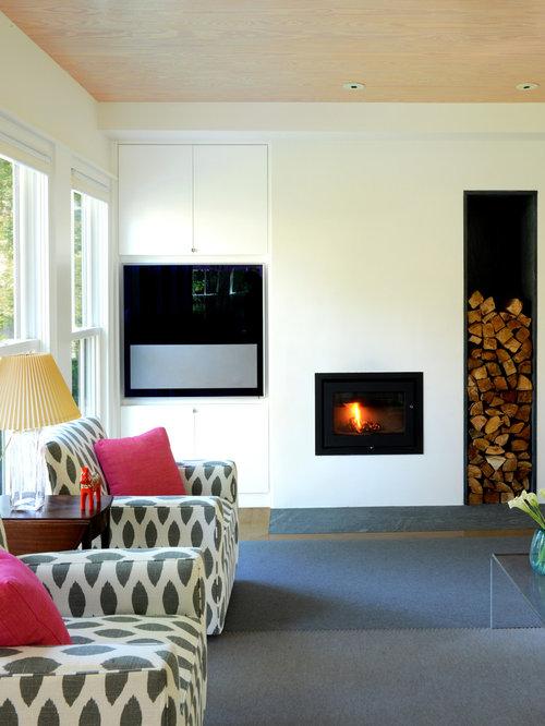 Save. Scandinavian Modern Cottage Living Room