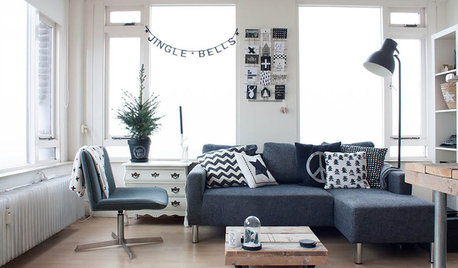 My Houzz: A Scandi-chic Home Celebrates Monochrome and Natural Wood