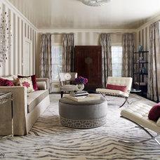 Contemporary Living Room by FRH Designs - Felicia Hoffenberg