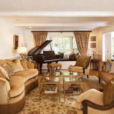 Traditional Living Room by Valerie Lavine Design