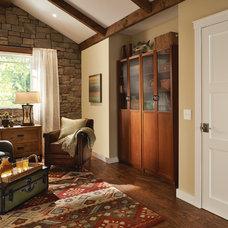 Rustic Living Room by Schlage Locks