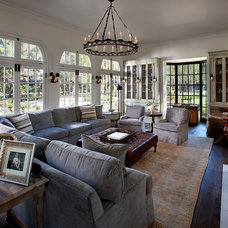 Traditional Living Room by Vallone Design