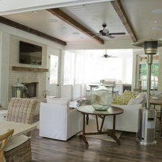 Beach Style Living Room by Dream Weaver Building & Remodeling