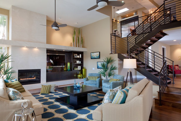 Contemporary Living Room by Marrokal Design & Remodeling