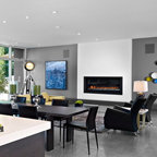 Rectangle Contemporary Living Room Calgary By