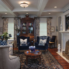 Traditional Living Room by Hill Construction Company
