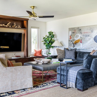Example of an eclectic living room design in Jacksonville