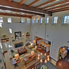 Mediterranean Living Room by Envision Web