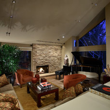 Asian Living Room by Culbertson Durst Interiors