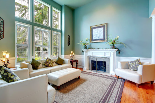 Traditional Living Room by CertaPro Painters of North Central Dallas