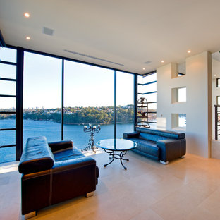 This is an example of a contemporary living room in Sydney.