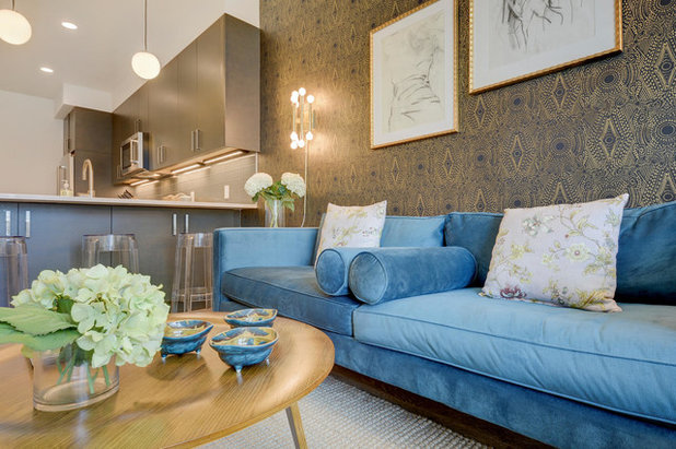 Eclectic Living Room by Wander Designs