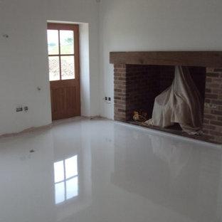 White Epoxy Floor Houzz