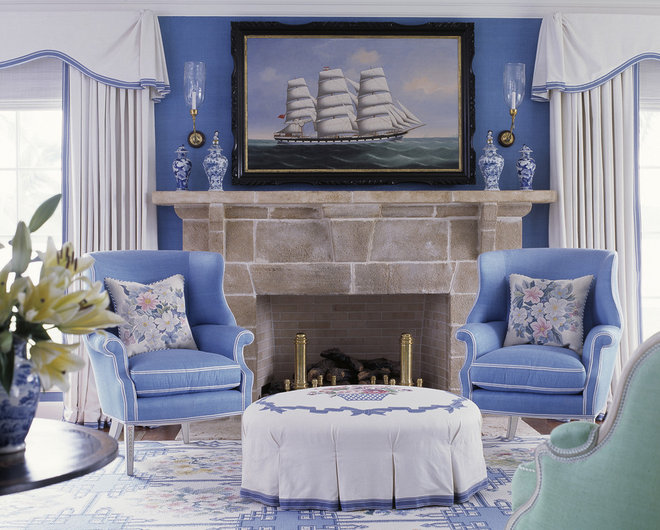 Traditional Living Room by Anthony Baratta LLC