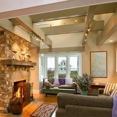 Beach Style Living Room by J. Schwartz Design