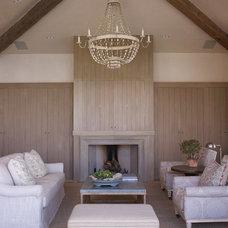 Mediterranean Living Room by Tim Clarke Design