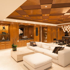 Contemporary Living Room by Radius Architectural Millwork Ltd.