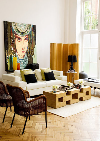 Eclectic Living Room by Design-OD